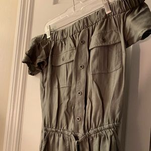 Forever 21 army green romper